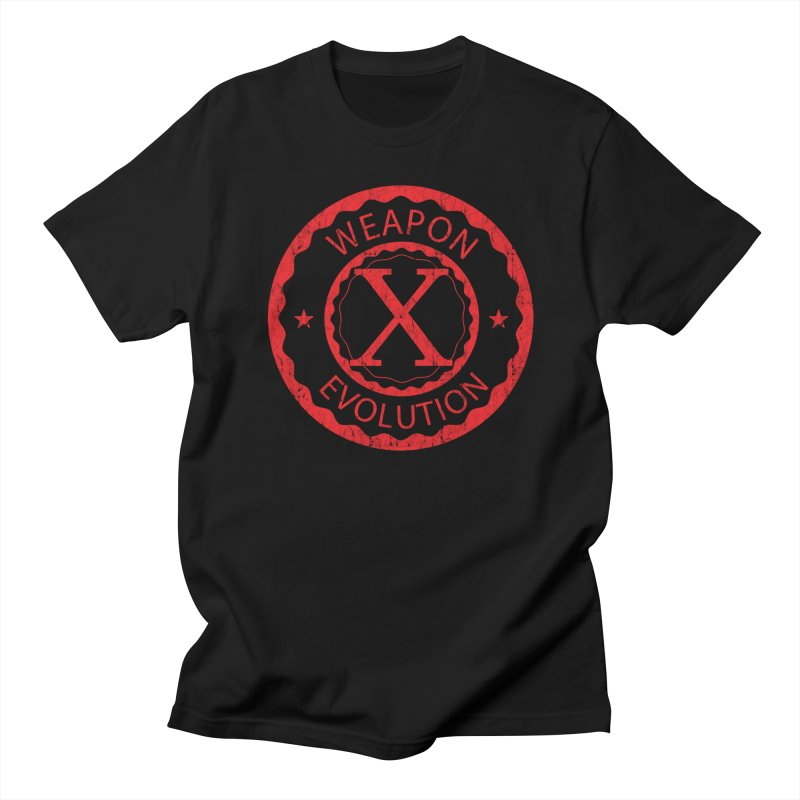 WXE (Red) Men's Regular T-Shirt by Weapon X Evolution merchandise