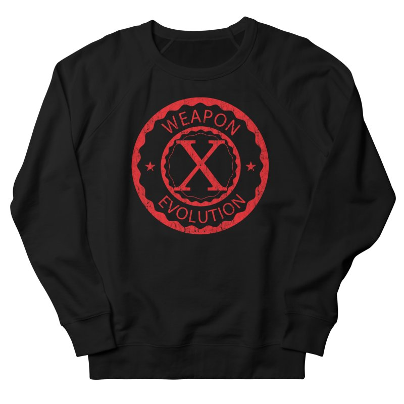 WXE (Red) Men's French Terry Sweatshirt by Weapon X Evolution merchandise