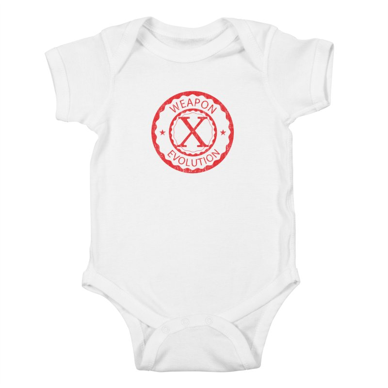 WXE (Red) Kids Baby Bodysuit by Weapon X Evolution merchandise
