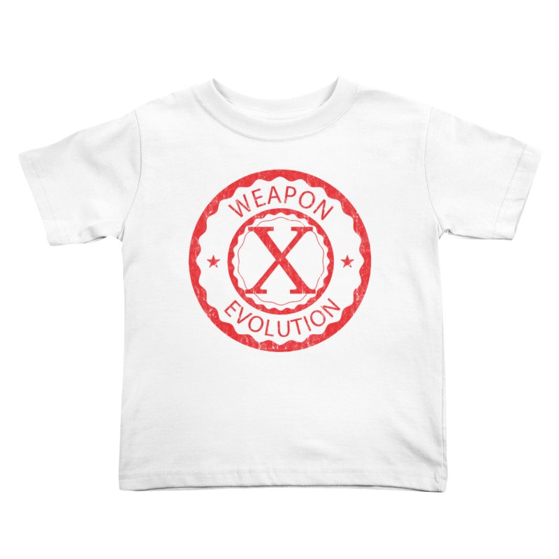 WXE (Red) Kids Toddler T-Shirt by Weapon X Evolution merchandise