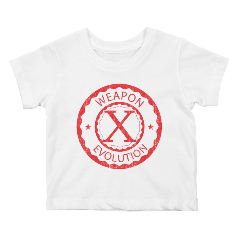 WXE (Red) Kids Baby T-Shirt by Weapon X Evolution merchandise