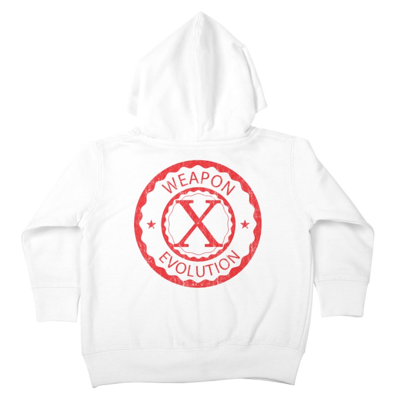 WXE (Red) Kids Toddler Zip-Up Hoody by Weapon X Evolution merchandise