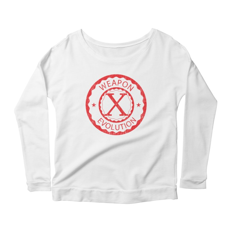WXE (Red) Women's Scoop Neck Longsleeve T-Shirt by Weapon X Evolution merchandise