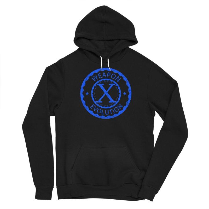 WXE (Blue) Men's Sponge Fleece Pullover Hoody by Weapon X Evolution merchandise