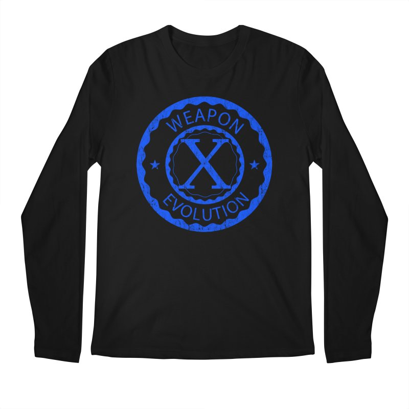 WXE (Blue) Men's Longsleeve T-Shirt by Weapon X Evolution merchandise