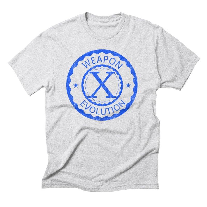 WXE (Blue) Men's T-Shirt by Weapon X Evolution merchandise