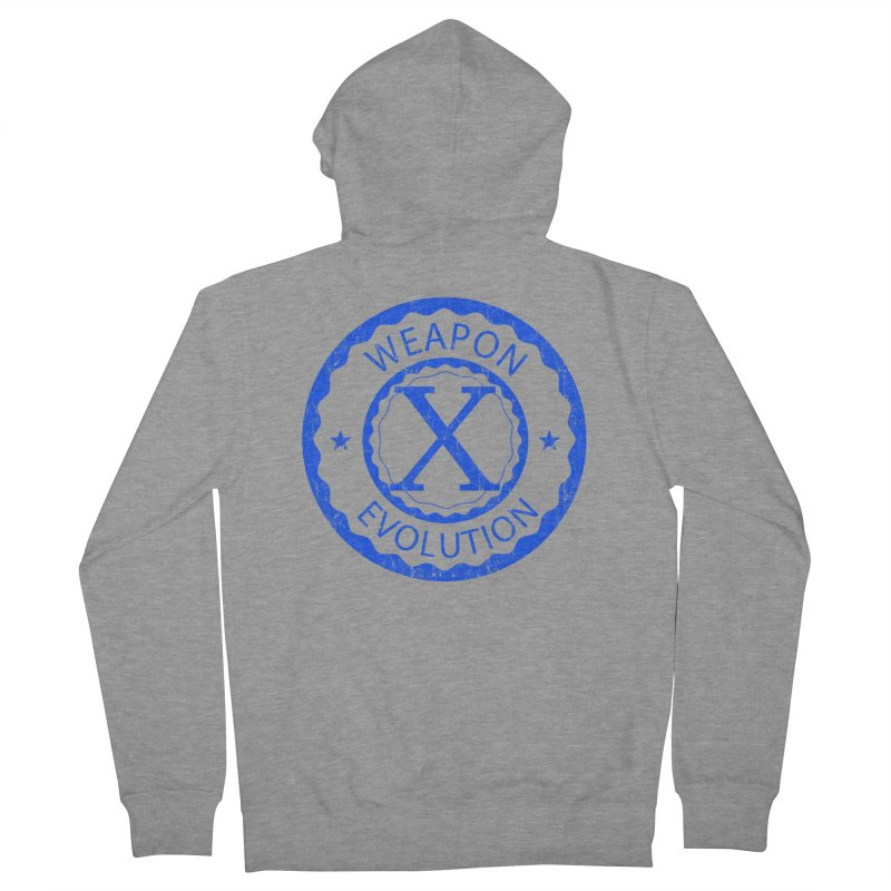 WXE (Blue) Women's French Terry Zip-Up Hoody by Weapon X Evolution merchandise