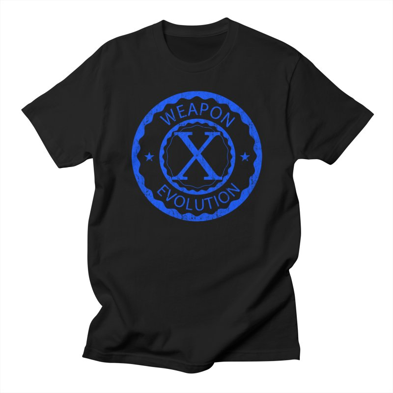 WXE (Blue) Men's T-Shirt by Weapon X Evolution merchandise