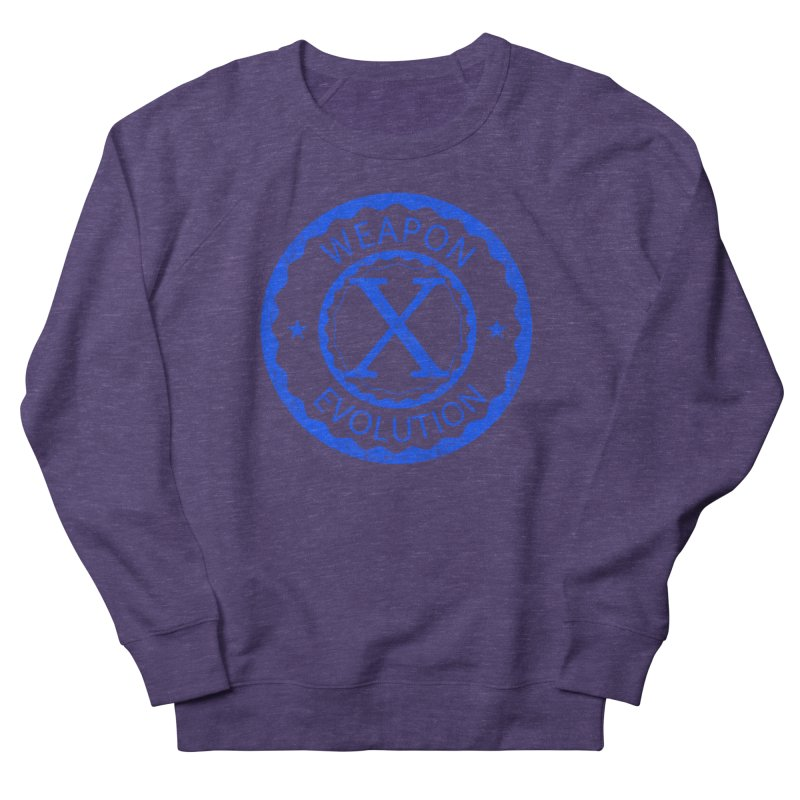 WXE (Blue) Women's French Terry Sweatshirt by Weapon X Evolution merchandise