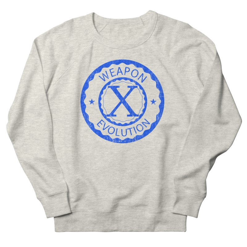 WXE (Blue) Women's French Terry Sweatshirt by Weapon X Evolution merchandise