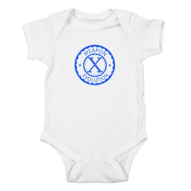 WXE (Blue) Kids Baby Bodysuit by Weapon X Evolution merchandise