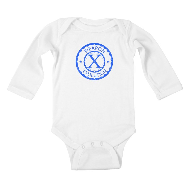 WXE (Blue) Kids Baby Longsleeve Bodysuit by Weapon X Evolution merchandise