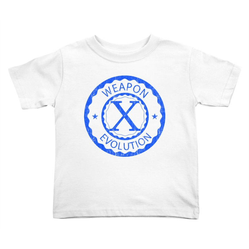 WXE (Blue) Kids Toddler T-Shirt by Weapon X Evolution merchandise