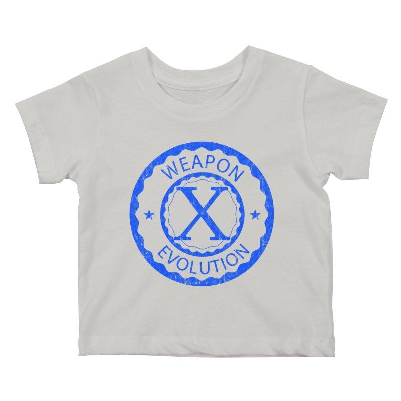 WXE (Blue) Kids Baby T-Shirt by Weapon X Evolution merchandise