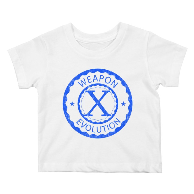WXE (Blue) Kids Baby T-Shirt by Weapon X Evolution merchandise