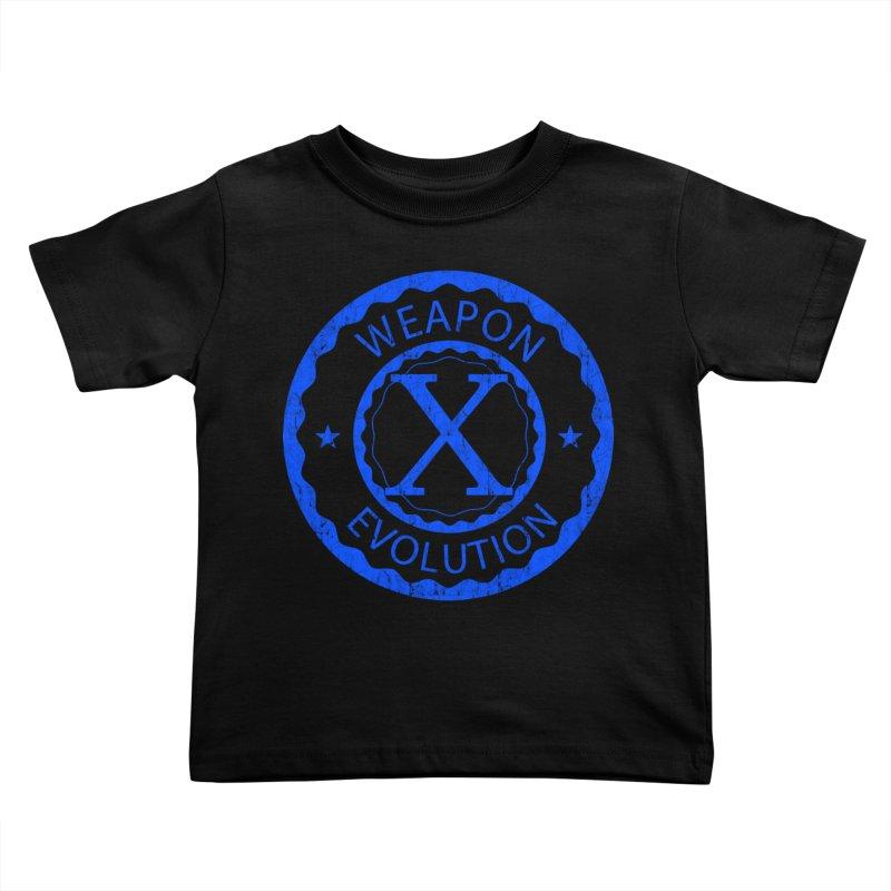 WXE (Blue) Kids Toddler T-Shirt by Weapon X Evolution merchandise