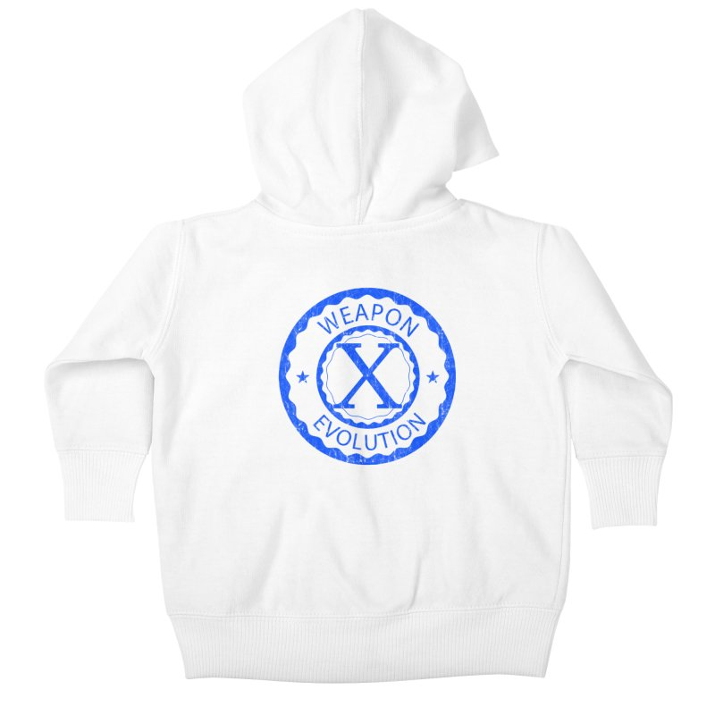 WXE (Blue) Kids Baby Zip-Up Hoody by Weapon X Evolution merchandise