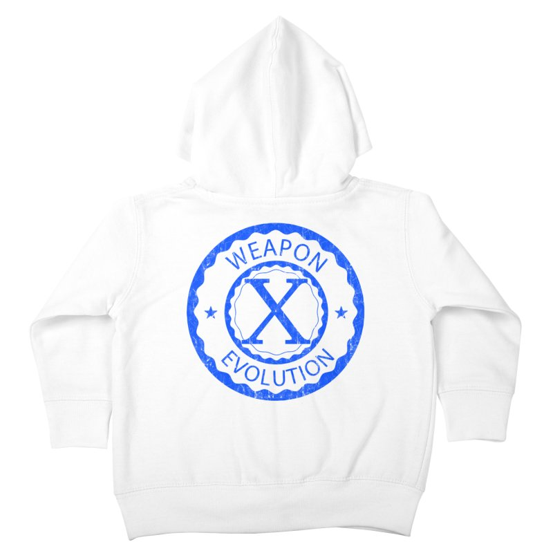 WXE (Blue) Kids Toddler Zip-Up Hoody by Weapon X Evolution merchandise