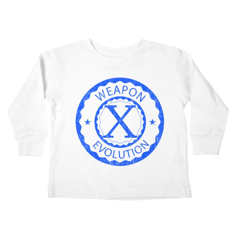 WXE (Blue) Kids Toddler Longsleeve T-Shirt by Weapon X Evolution merchandise