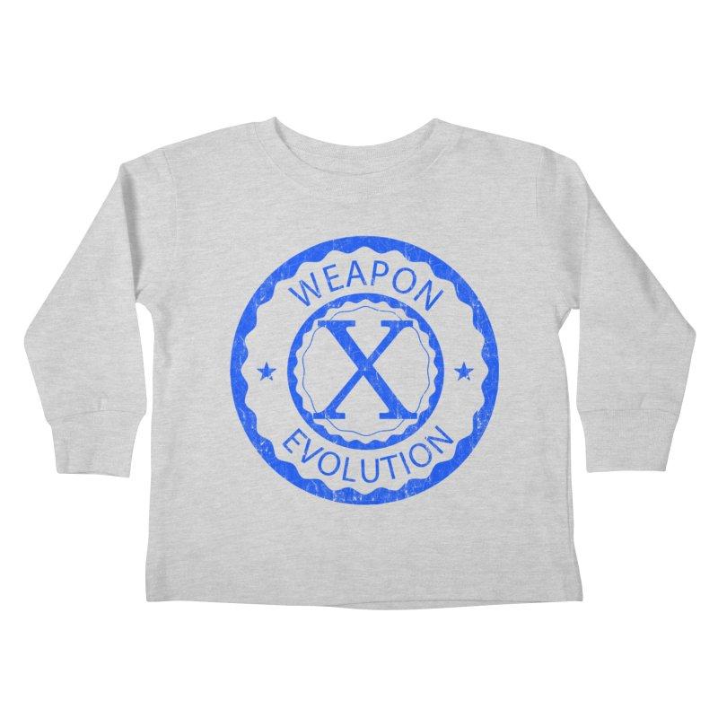 WXE (Blue) Kids Toddler Longsleeve T-Shirt by Weapon X Evolution merchandise