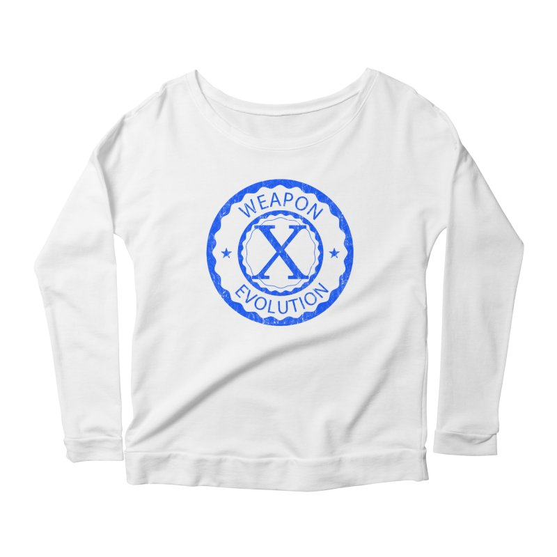 WXE (Blue) Women's Scoop Neck Longsleeve T-Shirt by Weapon X Evolution merchandise