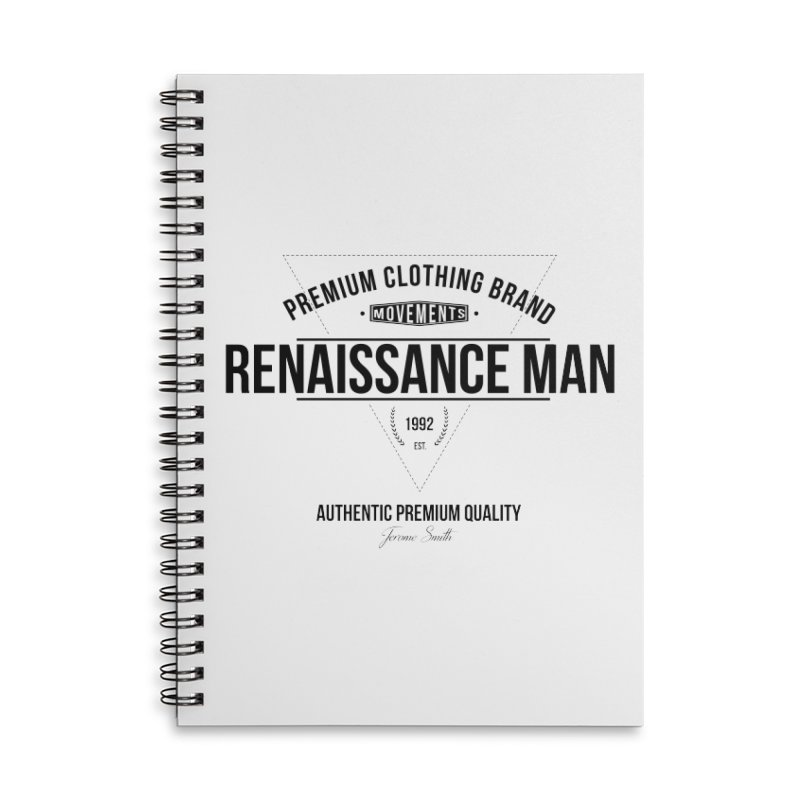 Renaissance Man Accessories Lined Spiral Notebook by Weapon X Evolution merchandise