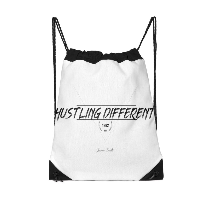 Hustling Different Accessories Drawstring Bag Bag by Weapon X Evolution merchandise