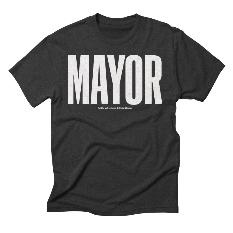 We Are Mayor in Men's Triblend T-Shirt Heather Onyx by We Are Mayor