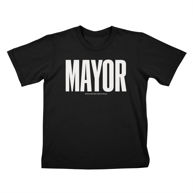 We Are Mayor in Kids T-Shirt Black by We Are Mayor