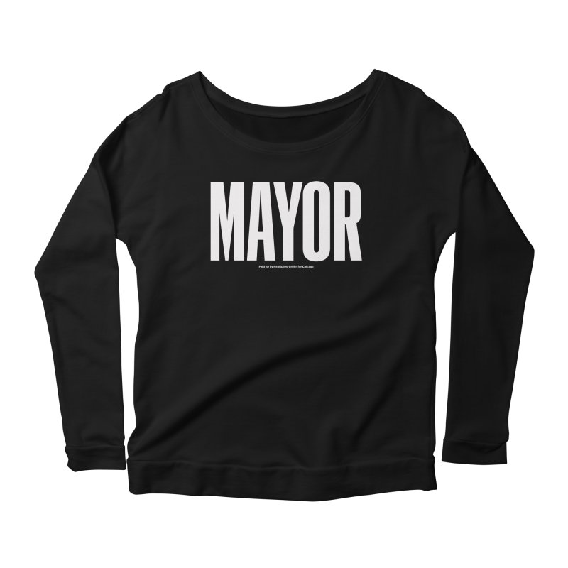 We Are Mayor in Women's Scoop Neck Longsleeve T-Shirt Black by We Are Mayor
