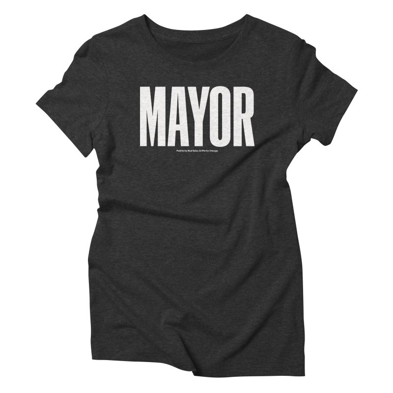 We Are Mayor in Women's Triblend T-Shirt Heather Onyx by We Are Mayor