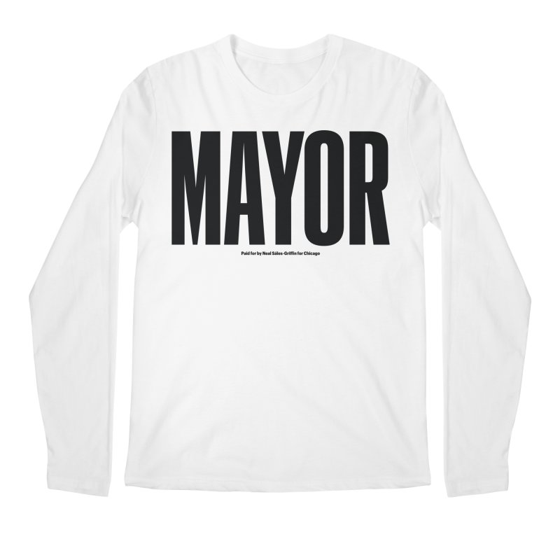 We Are Mayor in Men's Regular Longsleeve T-Shirt White by We Are Mayor