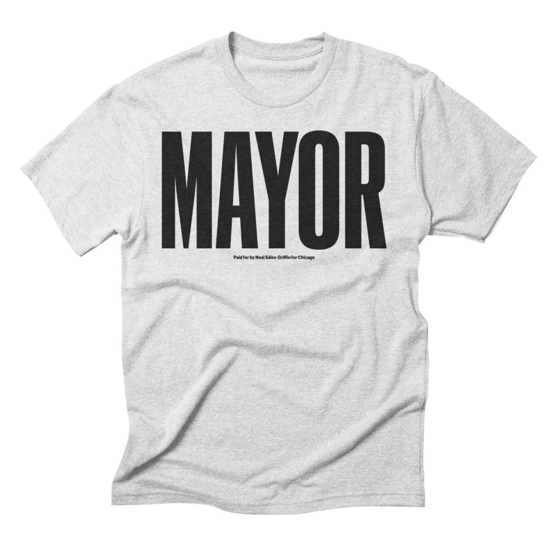 We Are Mayor in Men's Triblend T-Shirt Heather White by We Are Mayor