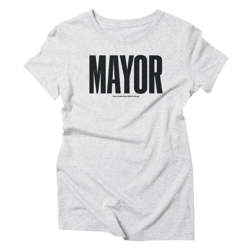 We Are Mayor in Women's Triblend T-Shirt Heather White by We Are Mayor