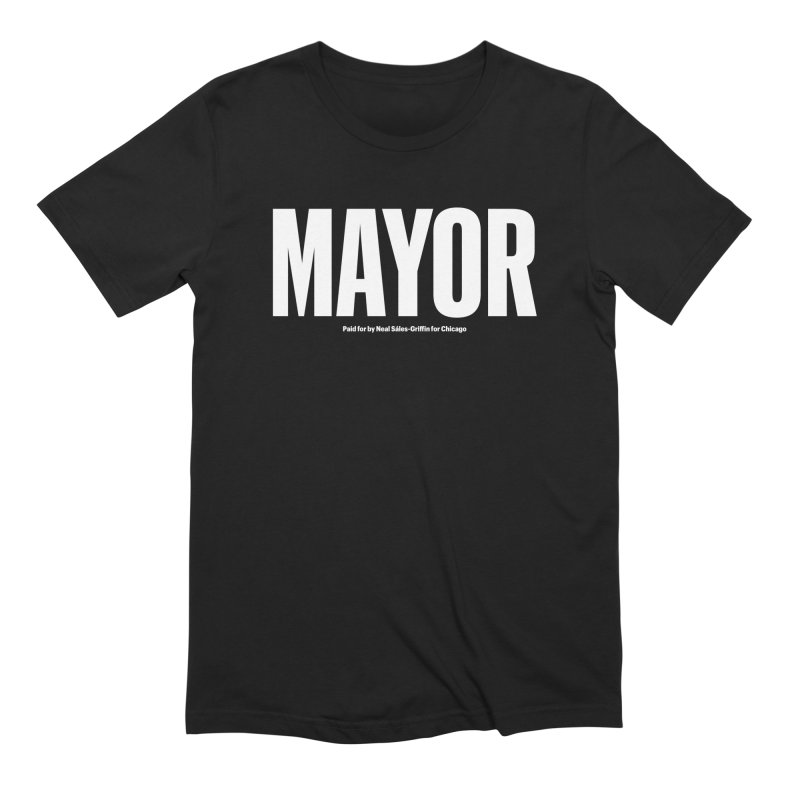 We Are Mayor in Men's Extra Soft T-Shirt Black by We Are Mayor | Neal For Mayor