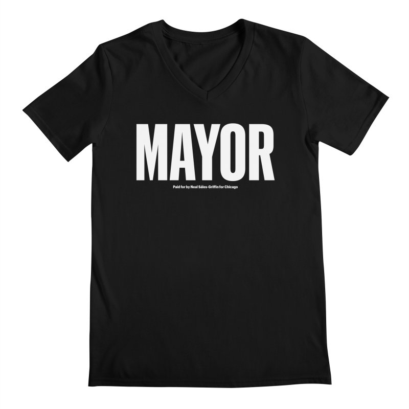 We Are Mayor Men's Regular V-Neck by We Are Mayor | Neal For Mayor