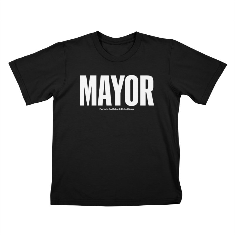 We Are Mayor in Kids T-Shirt Black by We Are Mayor | Neal For Mayor