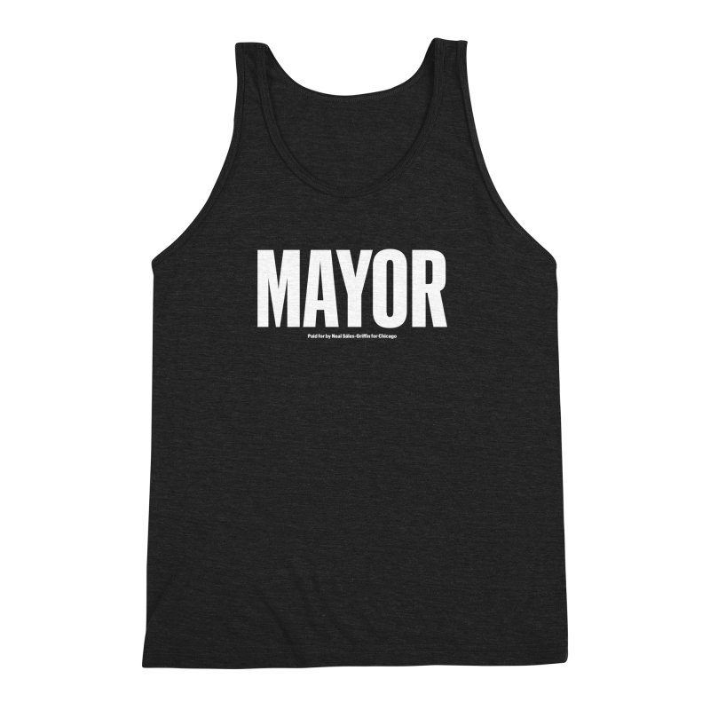 We Are Mayor Men's Triblend Tank by We Are Mayor | Neal For Mayor