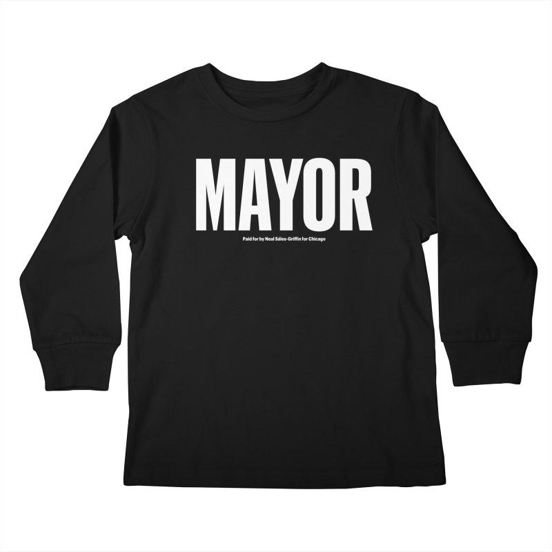 We Are Mayor Kids Longsleeve T-Shirt by We Are Mayor | Neal For Mayor