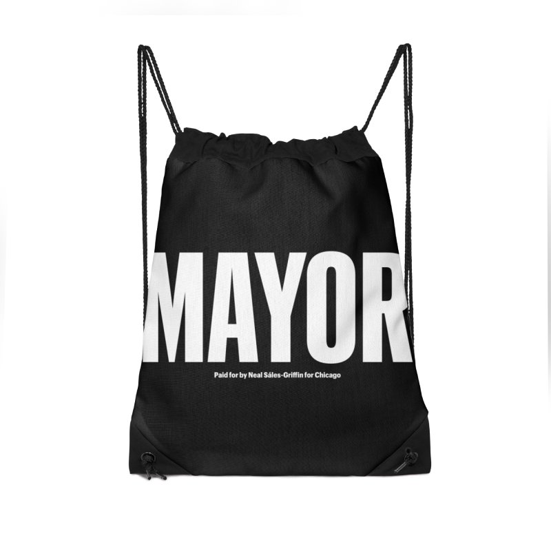 We Are Mayor Accessories Drawstring Bag Bag by We Are Mayor | Neal For Mayor