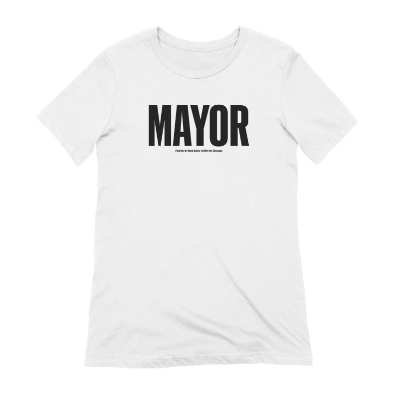 We Are Mayor in Women's Extra Soft T-Shirt White by We Are Mayor | Neal For Mayor