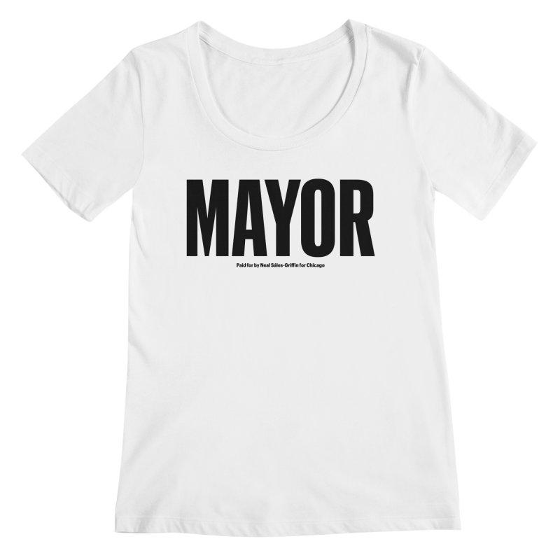 We Are Mayor Women's Regular Scoop Neck by We Are Mayor | Neal For Mayor