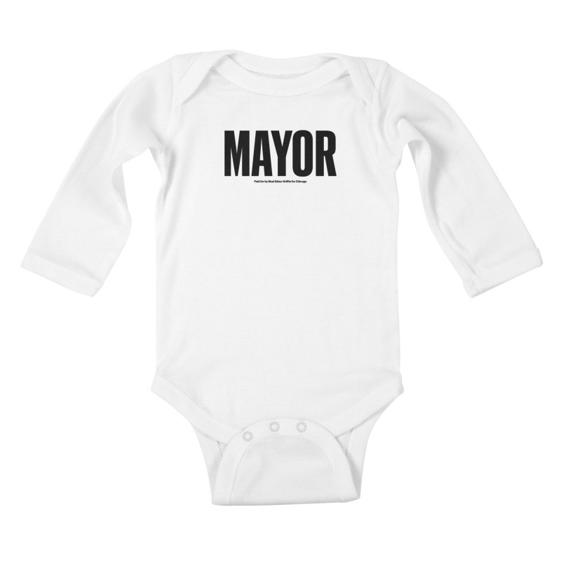 We Are Mayor Kids Baby Longsleeve Bodysuit by We Are Mayor | Neal For Mayor