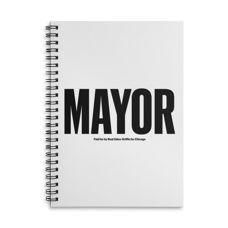 We Are Mayor Accessories Lined Spiral Notebook by We Are Mayor | Neal For Mayor