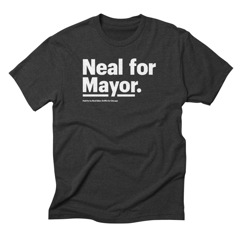 Neal for Mayor Men's Triblend T-Shirt by We Are Mayor | Neal For Mayor
