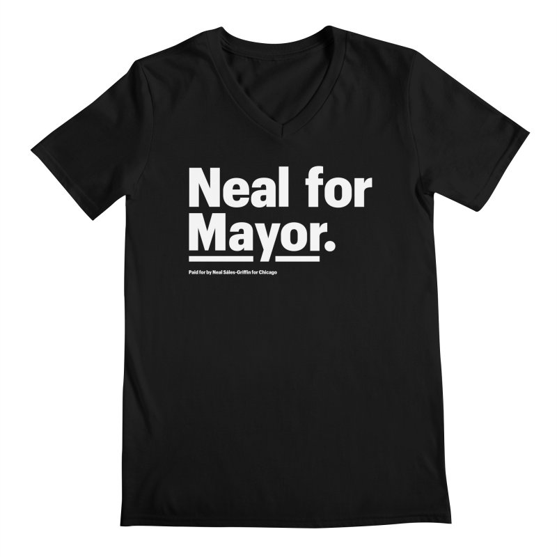 Neal for Mayor Men's Regular V-Neck by We Are Mayor | Neal For Mayor