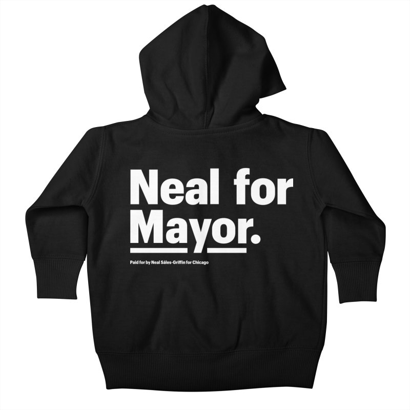Neal for Mayor Kids Baby Zip-Up Hoody by We Are Mayor | Neal For Mayor