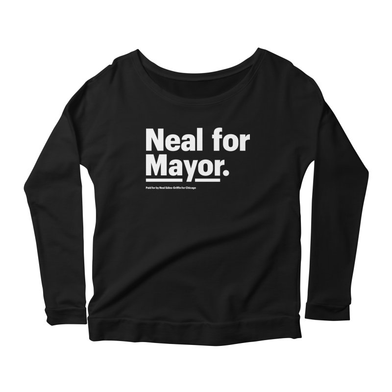 Neal for Mayor Women's Scoop Neck Longsleeve T-Shirt by We Are Mayor | Neal For Mayor