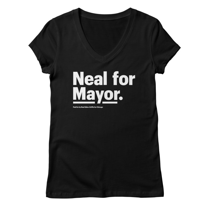 Neal for Mayor Women's Regular V-Neck by We Are Mayor | Neal For Mayor