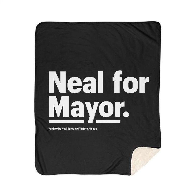 Neal for Mayor Home Sherpa Blanket Blanket by We Are Mayor | Neal For Mayor